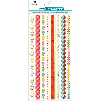 Paper House Life Organized Rice Paper Border Stickers 8