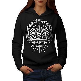 Triangolo Crest donne BlackHoodie | Wellcoda