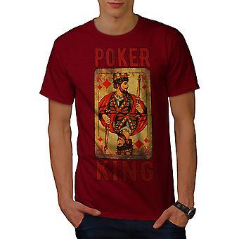 Poker Diamond King menn RedT-skjorte | Wellcoda