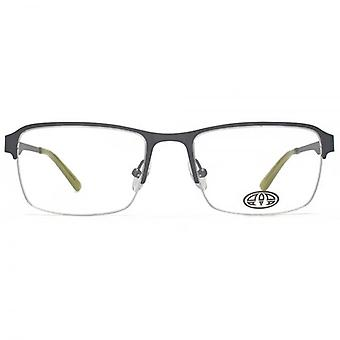 Animal Jesse Semi Rimless Rectangle Glasses In Gunmetal