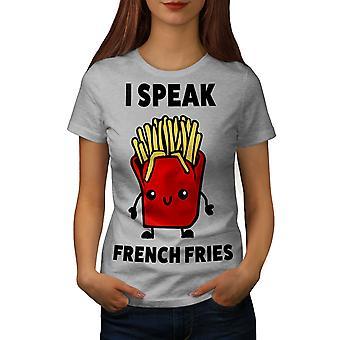 Pommes frites graut-Shirt der Frauen sprechen | Wellcoda