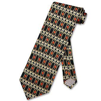 Antonio Ricci Seiden Krawatte Made in Italien geometrische Design Herren Krawatte #5831-1