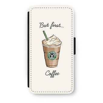 iPhone 8 Plus Flip Case - men första kaffe
