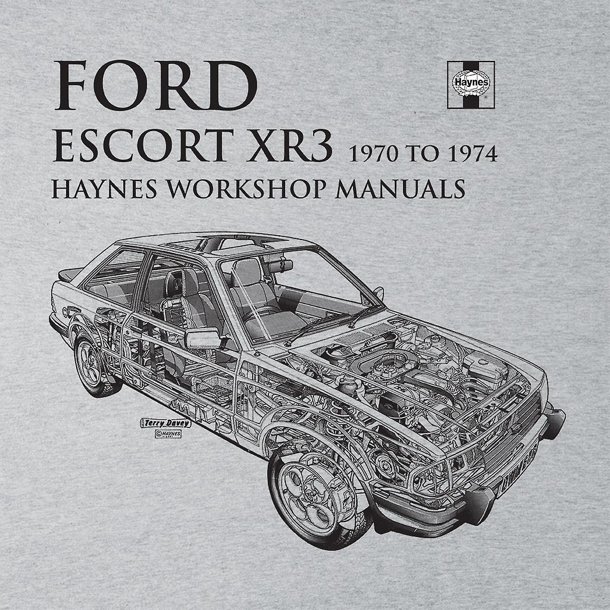 Haynes Owners Workshop Manual 0686 Ford Escort XR3 Black Men's T-Shirt