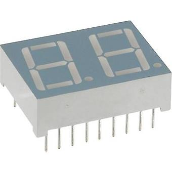 Seven-segment display Red 14.22 mm 2 V No. of digits: 2