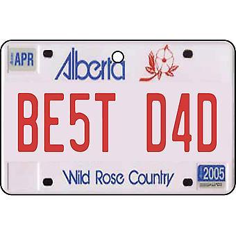 Alberta - Best Dad License Plate Car Air Freshener