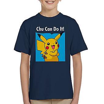 Chu puede hacerlo camiseta Pikachu Pokemon infantil