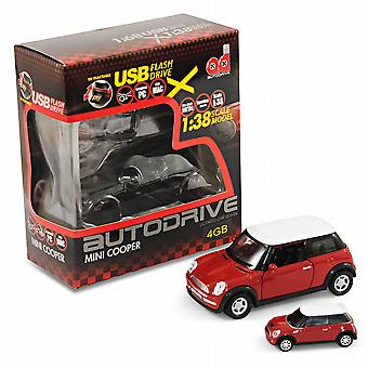 BMW Mini Cooper S Car Gift Box Set - 1:38 Model Car + 4Gb USB Flash Drive - Red