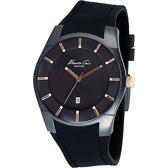 Kenneth Cole Mens Black Rose Gold White Analogue Watch KC1621