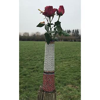 Vase, 33-34 cm høj, unikke 1, keramiske ware, billige - BSN 15144