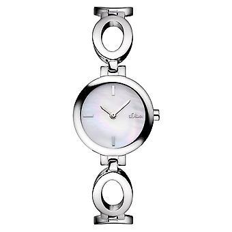 s.Oliver dames pols horloge analoog kwarts SO-15087-MQR