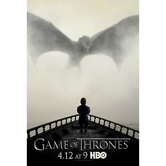 Game Of Thrones Lion and Dragon Poster Poster Print