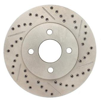 StopTech 227.62072L Select Sport Drilled and Slotted Brake Rotor; Front Left