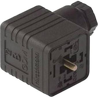 Hirschmann 934 395-100 GDM 3016 Right-angle Connector Black Number of pins:3 + PE