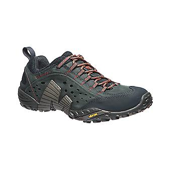 Merrell intercept mens real leather hiking boots blue