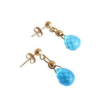 Oorbellen Blue Topaz oorbellen goud vergulde oorbellen Blue Topaz NONA