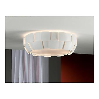 Schuller Quios 4 LED Bulb White Tile Ceiling Lamp