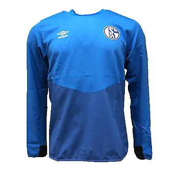 2018-2019 Schalke Umbro Drill Top (Blue)