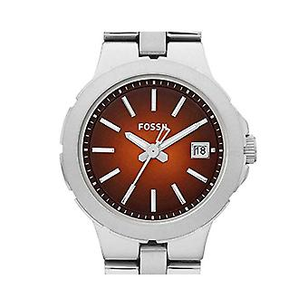Womens Fossil Ladies Watch Silver Brown Date AM4406