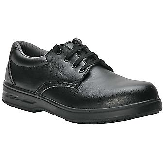 Portwest Mens Shirtlite Laced Steel Toe Capped Safety Work Shoe Black White
