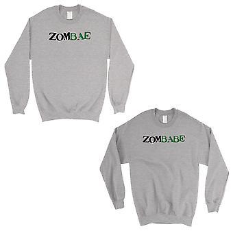 Zombae And Zombabe Grey Matching Sweatshirt Pullover