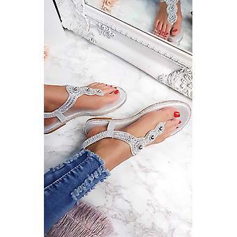 IKRUSH damskie Amerie Diamante upiększać sandały
