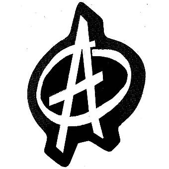 Anarchy 'A' shaped sew-on patch 100mm x 75mm (ro)