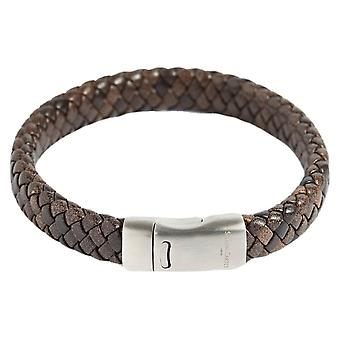 Simon Carter Medium Woven Bracelet - Brown/Silver