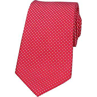 David Van Hagen Pin Dot Silk Tie - Red