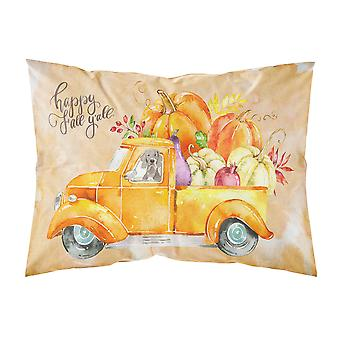 Fall Harvest Weimaraner Fabric Standard Pillowcase