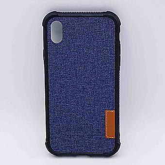 Para o olhar do IPhone XR-pouch-Jeans-azul