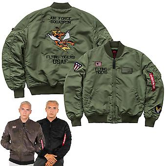 Alpha industries men's bomber jacket MA-1 VF Flying Tigers