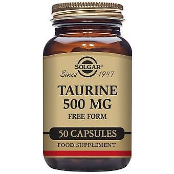 Solgar Taurine 500 mg 50 Capsules (Vitamins & supplements , Multinutrients)