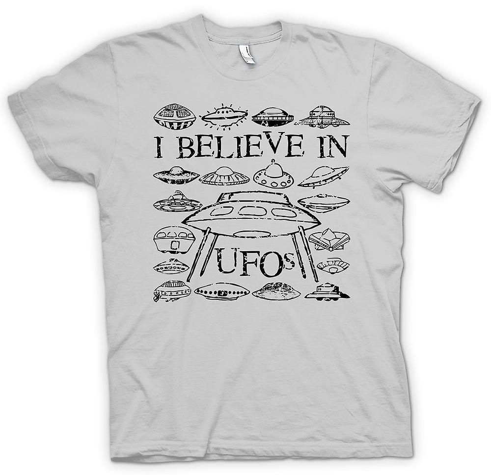 Mens t-skjorte - jeg tror på UFOer - morsom