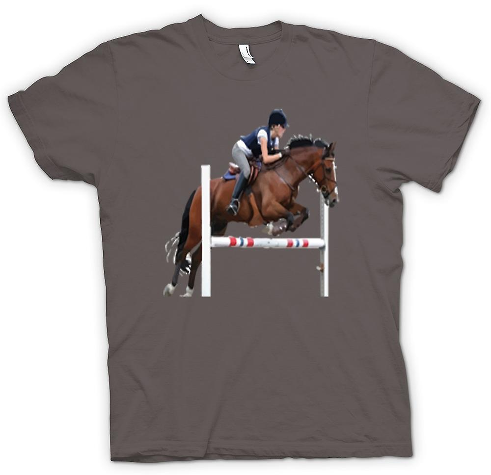 Womens T-shirt - Show Jumping Horse