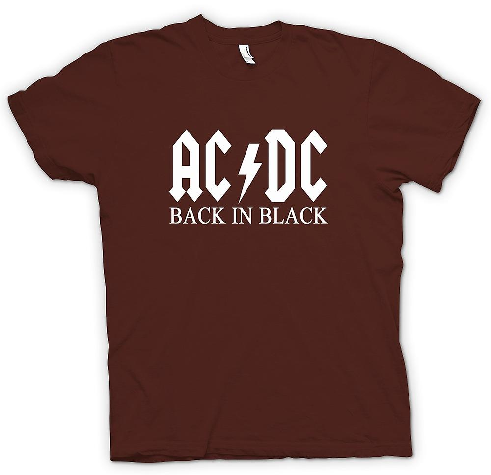 Camiseta para hombre - AC/DC Back In Black - Rock