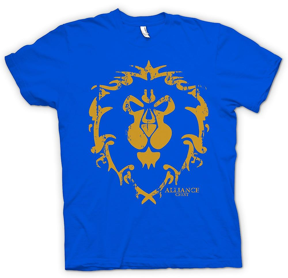 Mens t-shirt - Logo Crest Alliance - World Of Warcraft ispirato