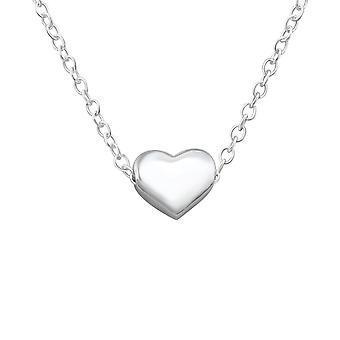 Hjertet - 925 Sterling Silver ren halskjeder - W17452X