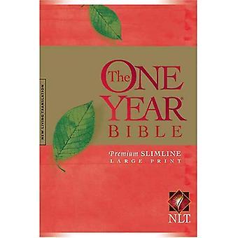 Yksi vuosi Premium Slimline Raamattu-NLT-Large tulostaa 10 vuotta [suuri Tulosta]