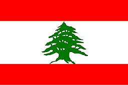 Libanon flagg 5 ft x 3 ft