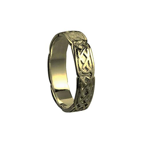 9ct Gold 4mm Celtic Wedding Ring Size P