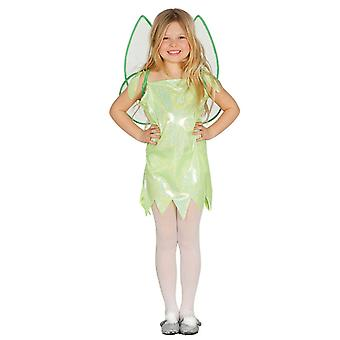 Flickor grön Glitter Fairy Fancy Dress kostym