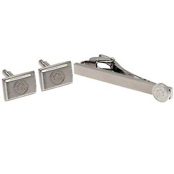 Leicester City Tie Slide & Cufflink Set