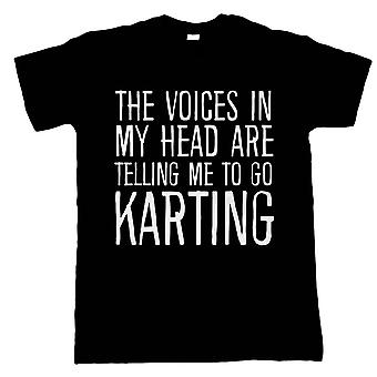 Voices In My Head Go Karting, Mens T Shirt