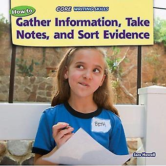 Hur att samla Information, ta anteckningar, och sortera bevis (Core skrivförmåga)