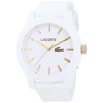 Lacoste menns kvarts watch 2010819, klassisk analog visning, silikon håndtak