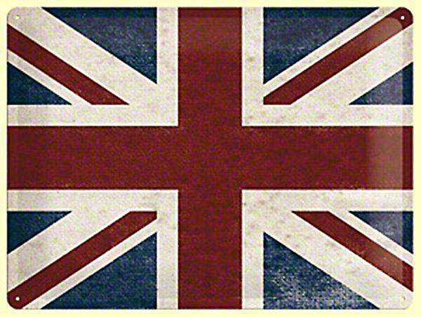 Union Jack (Union Flag) large embossed metal sign  (na3040)