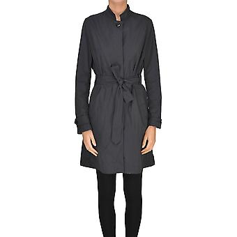 Add Grey Polyester Trench Coat
