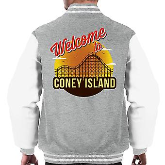Welcome To Coney Island Retro Men's Varsity Jacket