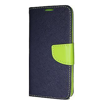 Samsung Galaxy S10 PLUS Wallet Pouch Fancy Case + Hand Strap Dark Blue